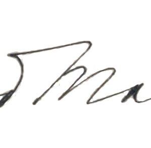 The signature of Edmond Malone.